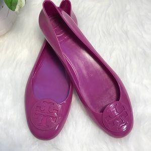 Tory Burch Jelly Reva Ballet Flats (Fuchsia)